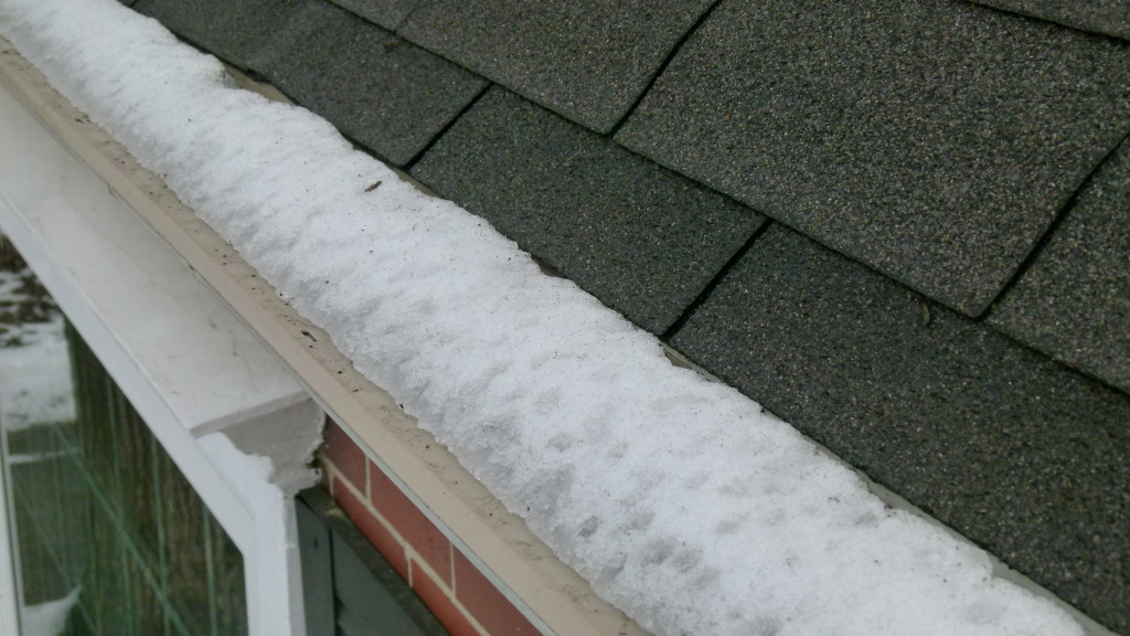 Damn Ice Dams Gutter Guard Snow And Ice Tests Continue