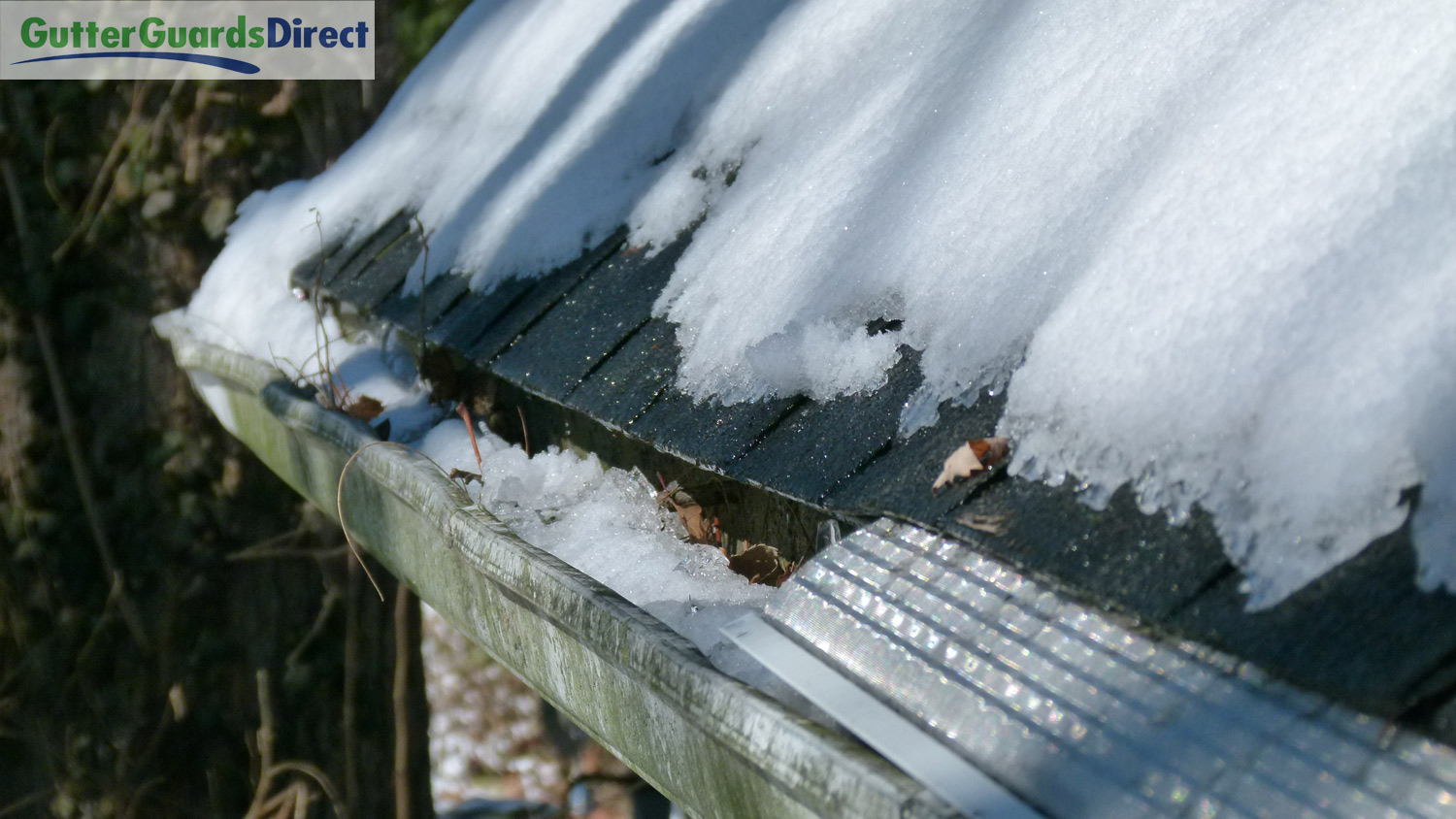 Icicles Go Better With Gutter Guards Than Open Gutters